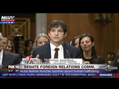 FULL: Ashton Kutcher Near TEARS in EMOTIONAL  Testimony at Hearing on Human Trafficking FNN