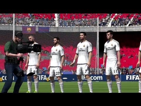 FIFA 14 NEXT GEN | EL CLASSICO FC BARCELONA - REAL MADRID FULL GAMEPLAY [HD+ XBOX ONE / PS4]