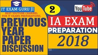 IA INFORMATION ASSISTENT PREVIOUS YEAR SOLVED PAPER सूचना सहायक परीक्षा 2013 का हल प्रश्न पत्र 2