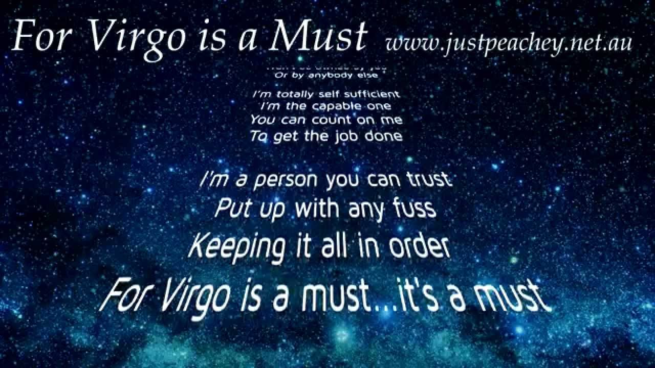 Virgo Star Sign character traits song by Just Peachey  YouTube
