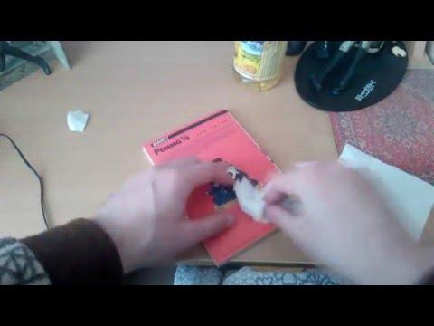 Вопрос: Как удалить остатки наклейки?