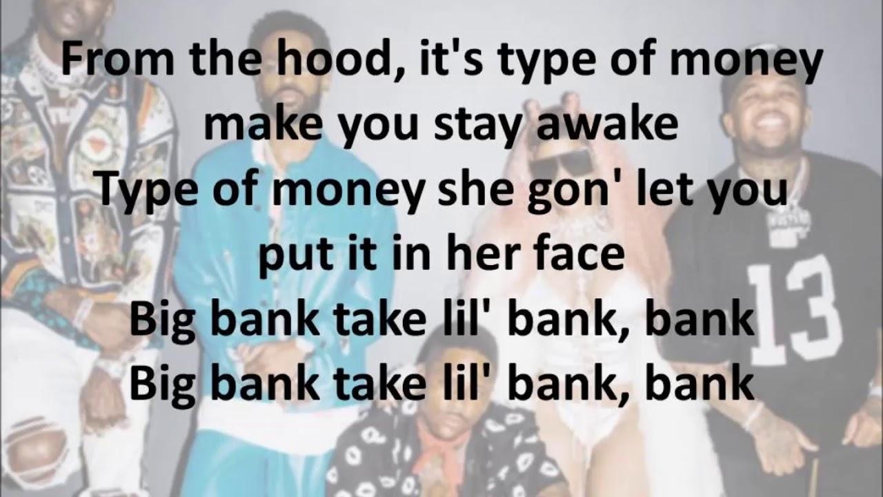 YG- Big Bank ft. 2Chainz, Big Sean, Nicki Minaj (Official Lyrics)