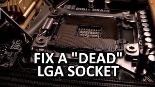 "LGA 2011 Socket Pin Repair Vlog - Fix a ""Dead"" Motherboard"
