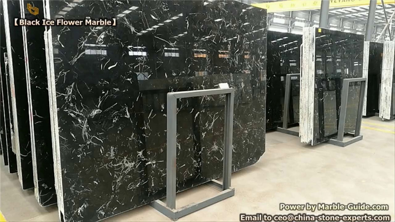 new black ice flower marble slabs for sale for hotel bathroom