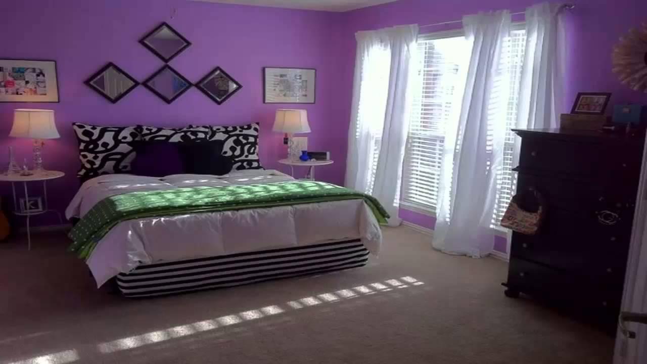 اجمل غرف نوم باللون البنفسجي       YouTube