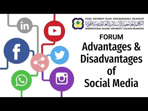 MBPM 3063 PUBLIC SPEAKING | FORUM ADVANTAGES AND DISADVANTAGES OF SOCIAL MEDIA