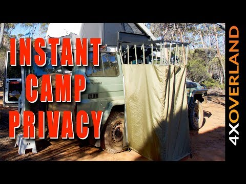 BEST CAMP SHOWER PRIVACY CURTAIN EVER. Info in description thumbnail