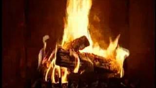 fireplace on a rainy day