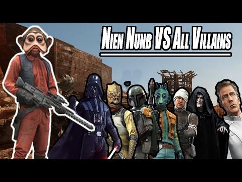 Star Wars Battlefront - Nien Nunb VS All Villains!