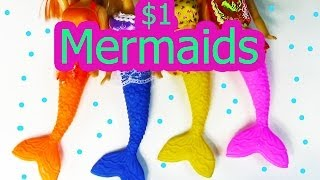 Mermaid Barbie Sirene Dolls $1 Dollar Tree Store Haul Opeing Review
