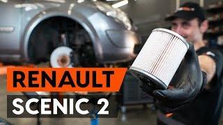 Ako vymeniť palivový filter na RENAULT SCENIC 2 (JM) [NÁVOD AUTODOC]