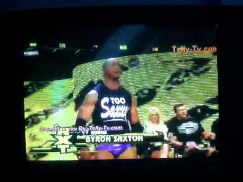 Byron Saxton gets Introduced by Tony Chimel