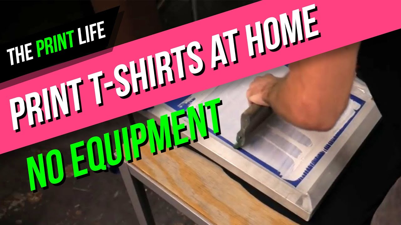 Diy Screen Printing Shirts How To Silk Screen Print A T Shirt At Home For Cheap The Print Life Diy