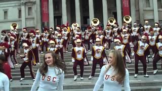USC Trojan Marching Band LMFAO Party Rock Trafalgar Square London 2012