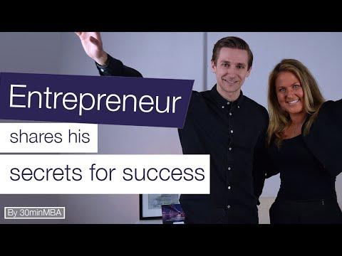 Entrepreneur shares his secrets for success