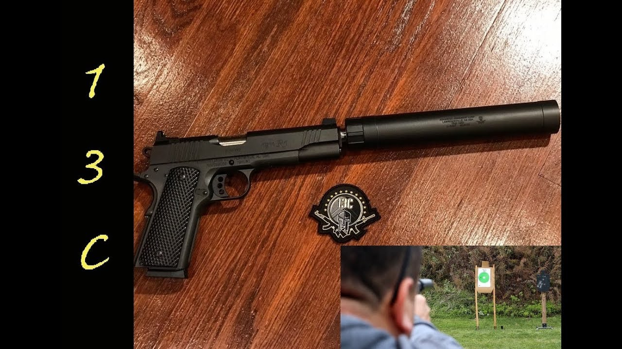 Remington R1 Enhanced w/ Threaded Barrel and silencer testing