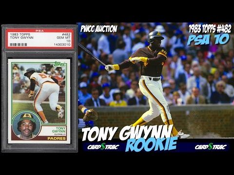 Tony Gwynn rookie card Topps #482 for sale; graded PSA 10 @ PWCC Auctions