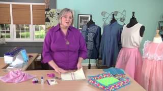 Rebecca Kemp Brent Demonstrates Various Seam Edgings on It's Sew Easy (1101-1)