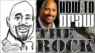 How To Draw A Quick Caricature The Rock Dwayne Johnson