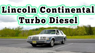 homepage tile video photo for 1984 Lincoln Continental Turbo Diesel: Regular Car Reviews