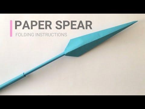 Paper spear Origami tutorials