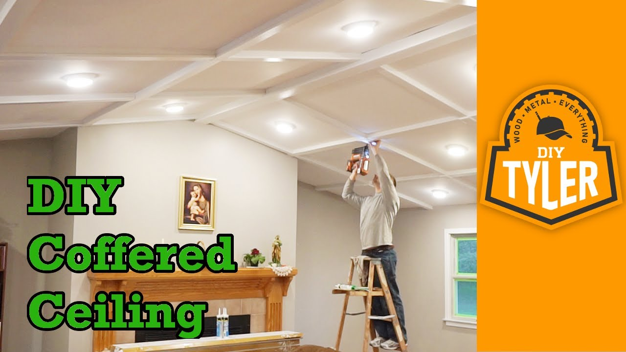 DIY Coffered Ceiling - YouTube
