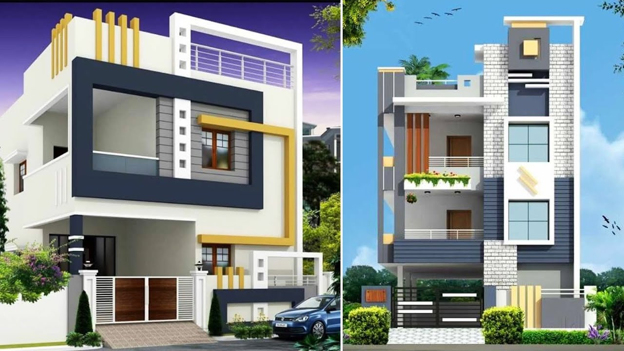 Best 40 Elevation Designs For 2 Floor House | Double Floor House Elevation In India - YouTube