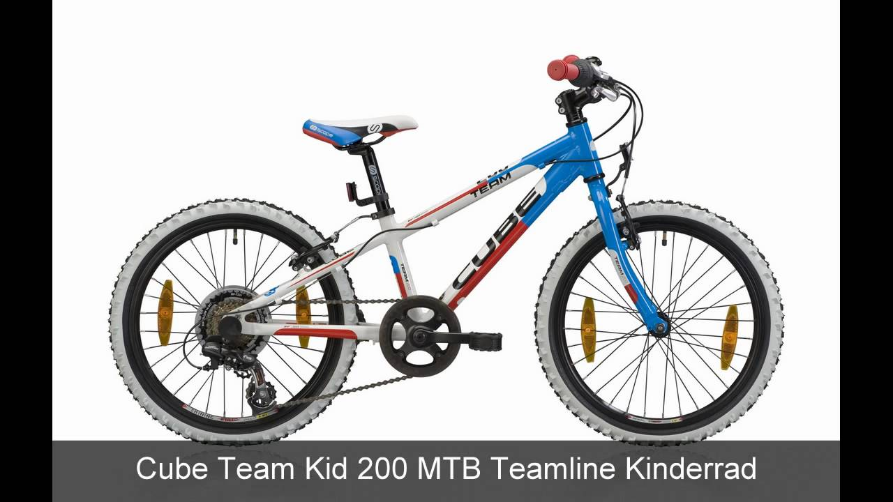 cube team kid 200 mtb teamline kinderrad youtube. Black Bedroom Furniture Sets. Home Design Ideas