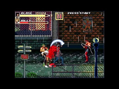 OpenBoR games: Streets of Rage Z 2 - Russian Blaze Fielding playthrough