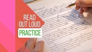 How to Sound Like a Native Speaker -  Read out loud at the right pace - 3/3