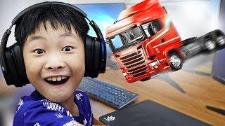 예준이의 중장비 게임 놀이 포크레인 자동차 장난감 트럭놀이 Truck Car Toy with Game Play