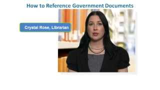 APA Style Reference List: How to Reference Canadian Government Documents