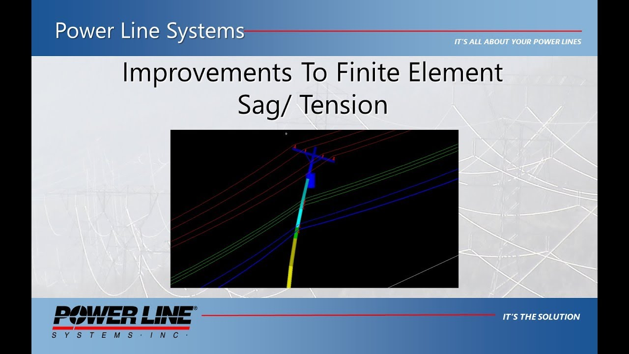 Video: FE Sag-tension Improvements in version 15 50 — Power Line Systems
