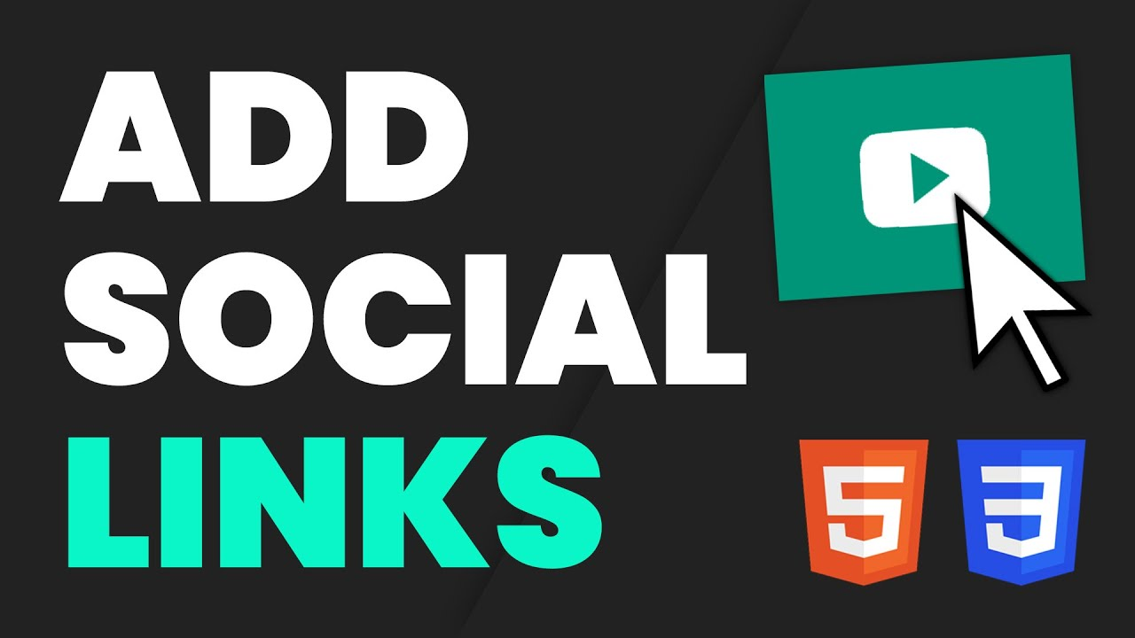 Easily Add Social Media Icon Links to Your Website with HTML & CSS