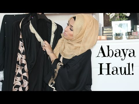 Abaya Haul | feat Jilbabsrus , Al Haya Collection, Maria London, Black Orchids & More! | Sebinaah