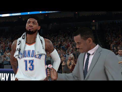 NBA 2K18 Gameplay - Oklahoma City Thunder vs Los Angeles Clippers (NBA 11/10/2017)