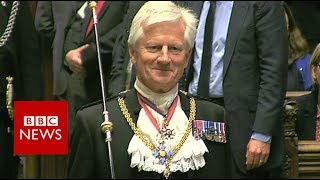 The Queen's Speech: Skinner to Black Rod 'Get your skates on'' - BBC News