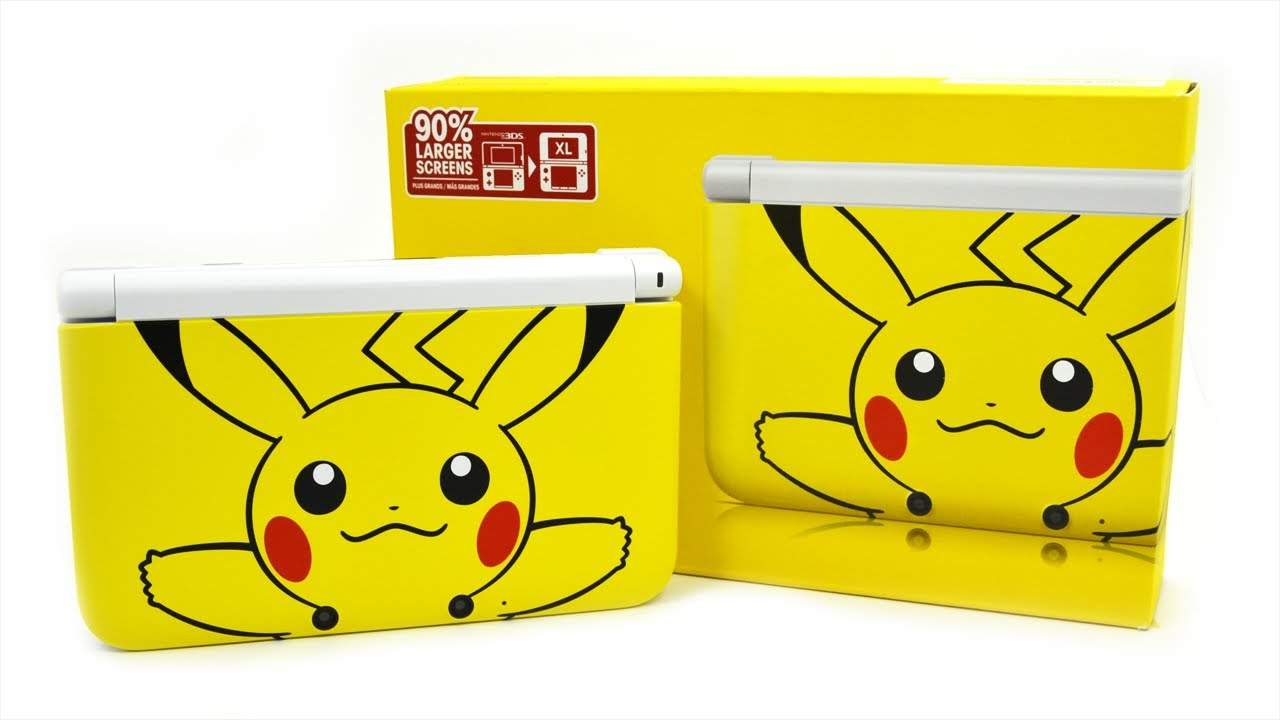 English pikachu 3ds xl unboxing review youtube for 3ds xl pikachu achat