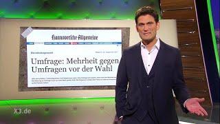 Christian Ehring: Umfragen über Umfragen vor den Wahlen