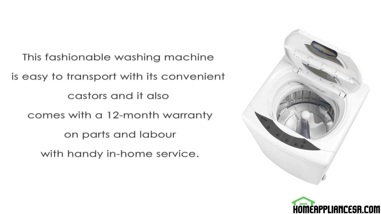 Danby DWM17WDB Review Portable Top Load Washing Machine