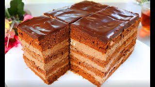 Мягкий Нежный Шоколадный торт ! Все смешал и готово, очень простой рецепт