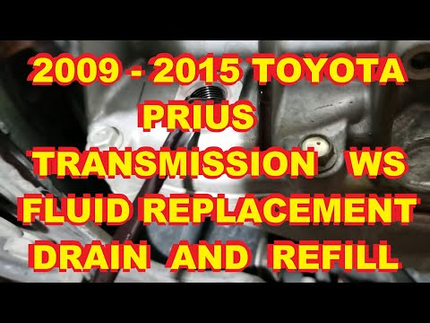 2010-2015 Toyota Prius Transmission drain and refill - YouTube