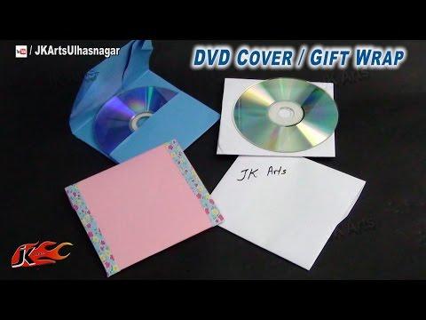 DIY How to make ENVELOPE - DVD Gift Wrap - JK Arts 735