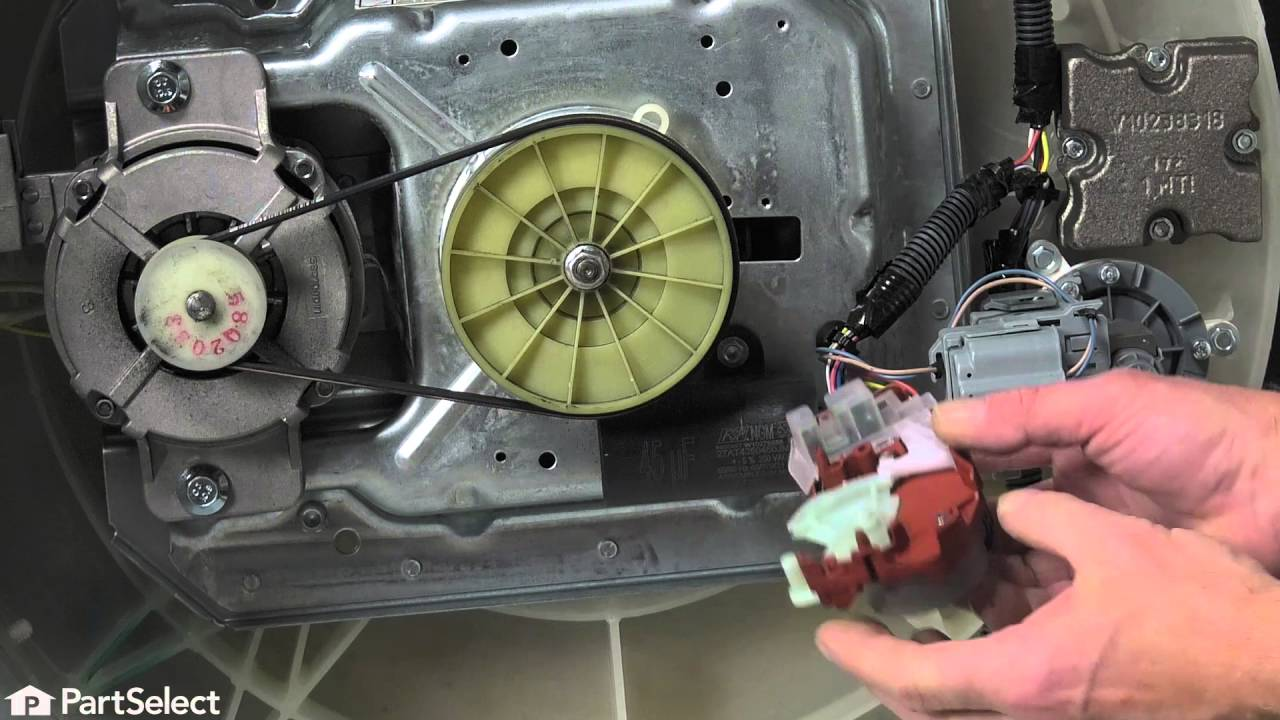 Washing Machine Repair Replacing The Actuator Whirlpool