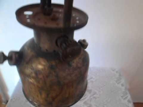 ANTIGUA LAMPARA QUINQUE FERROCARRILERO 50s.