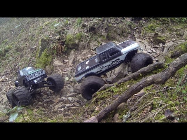 A little Masher and Losi Claw climbing