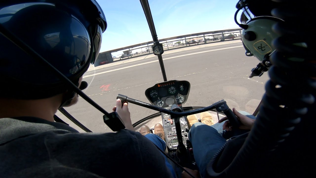 Robinson R22 Helicopter Run-up