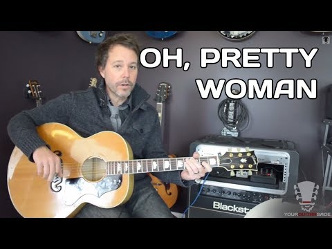 How to play Oh Pretty Woman by Roy Orbison Guitar Lesson