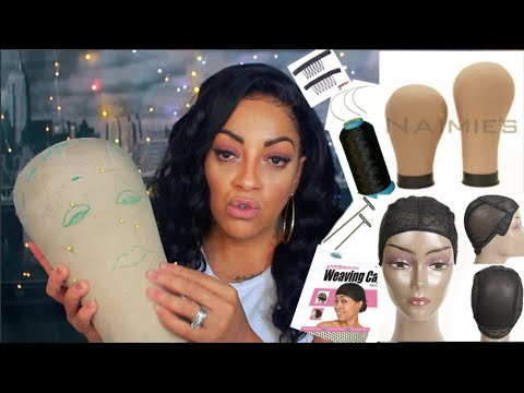 WHAT SUPPLIES I USE TO MAKE MY WIGS ⎮ Caps Thread Needles Mannequin Heads ⎮ DETAILED VIDEO