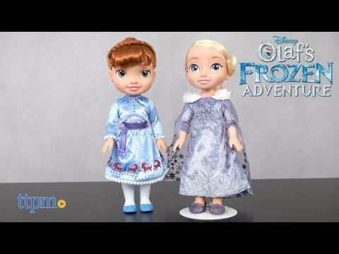 Disney Olaf's Frozen Adventure Elsa & Anna Dolls from Jakks Pacific